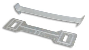 Two-Piece Colored Carrying Plastic Handles for Packaging